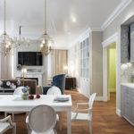 Обеденная зона в кухне-гостиной