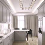 Светодиодная подсветка потолка в кухне