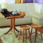 Угловой кухонный диван оливкового цвета