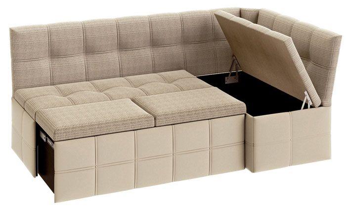 Мягкий диванчик с ящиком для хранения кухонной утвари