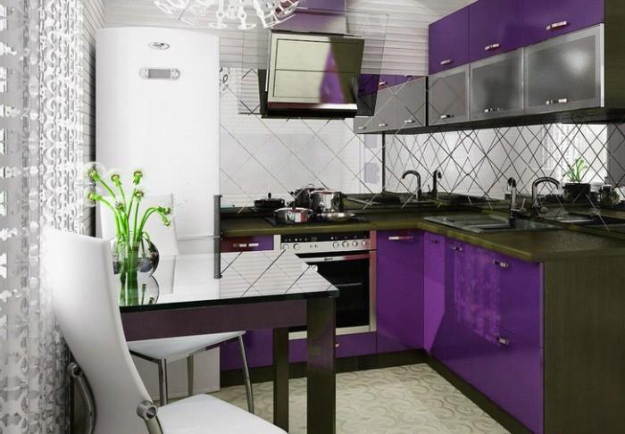 Сиреневая кухня.