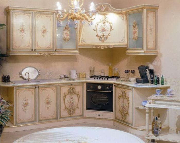 Кухня 6 кв.м рококо.