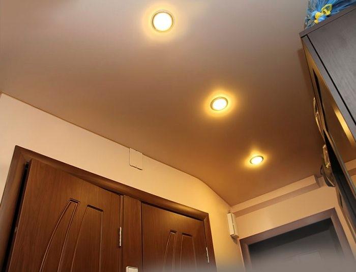 Точечное освещение.