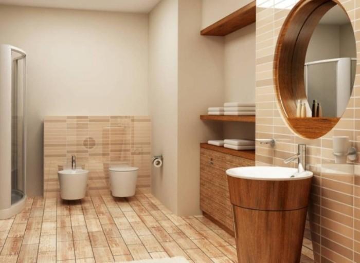 Плитка в ванной.