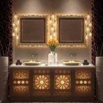 Освещение ванной комнаты в арабском стиле