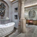 Колонная в ванной восточного стиля