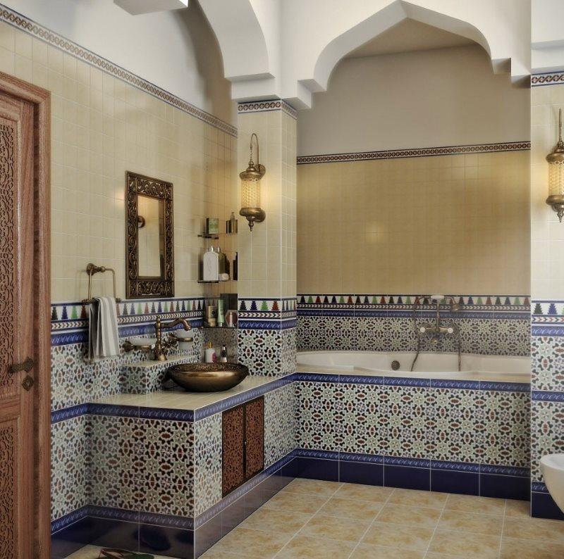 Арки в интерьере ванной в арабском стиле