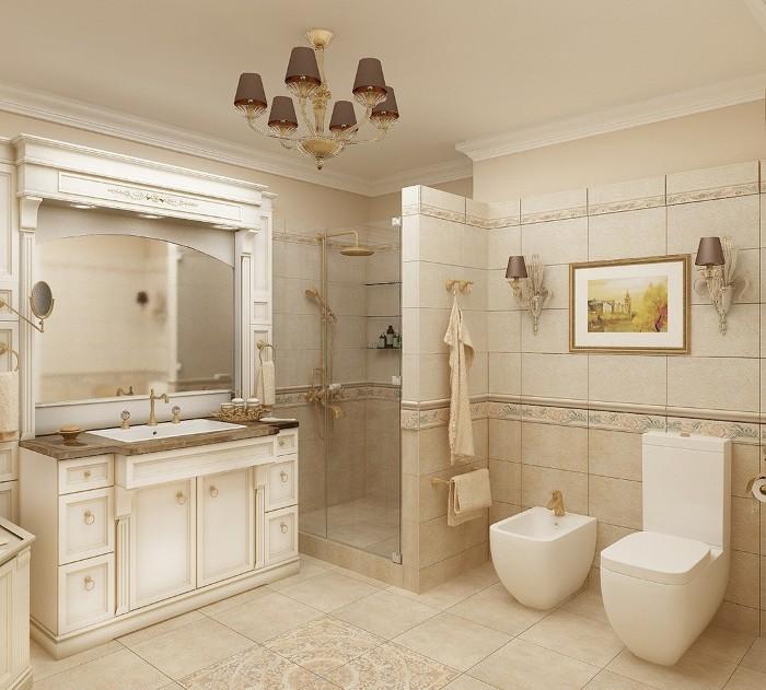 Ванная в классическом стиле.