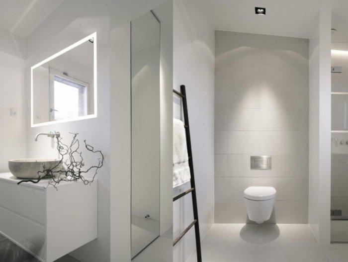 Белый цвет в ванной.