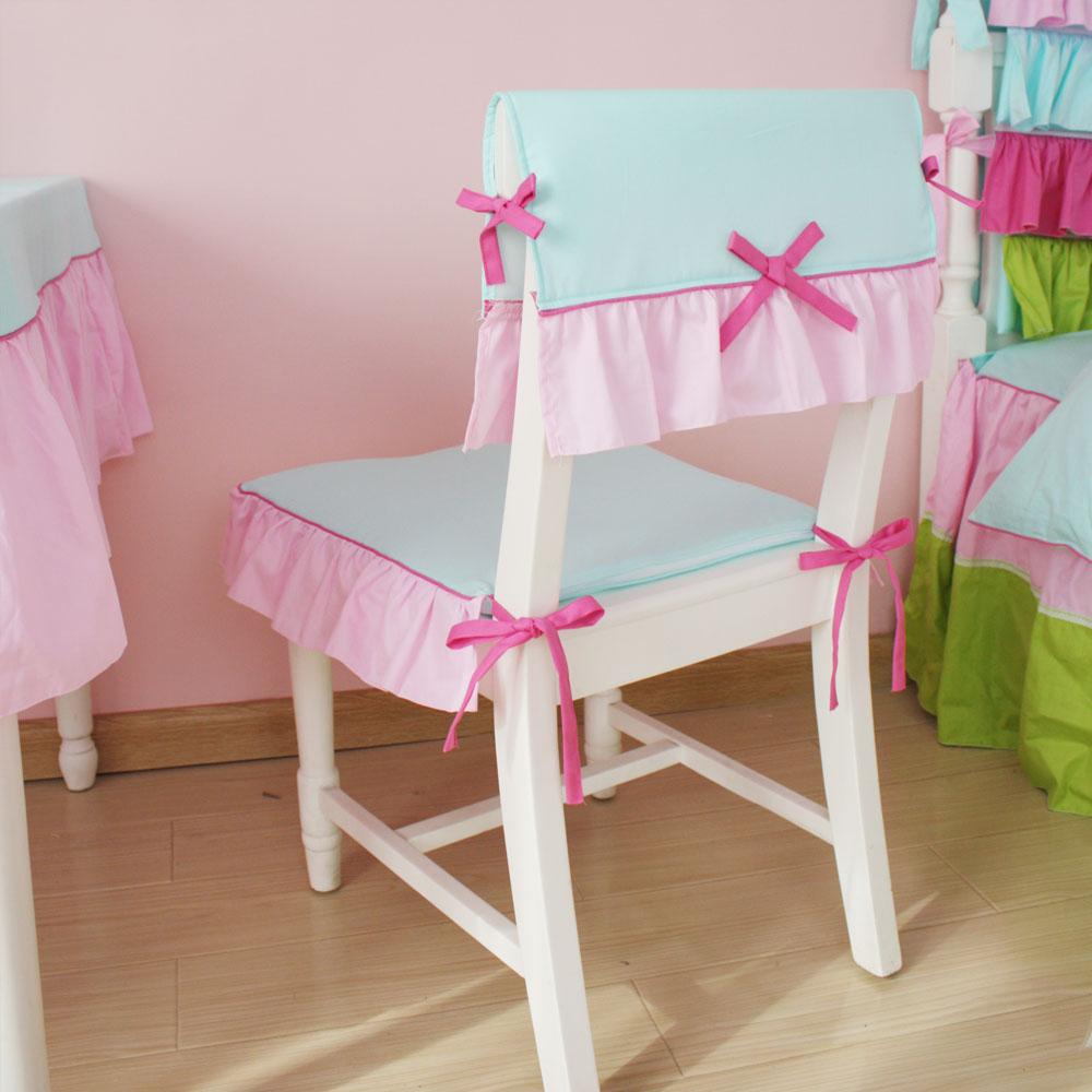 Украшение детского стула красивым чехлом