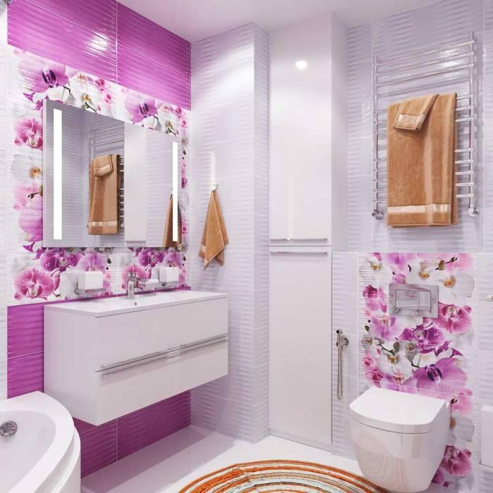 Ванная совмещенная с туалетом.