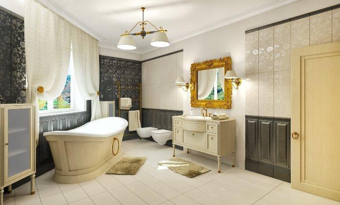 Классическая ванная комната дизайн.