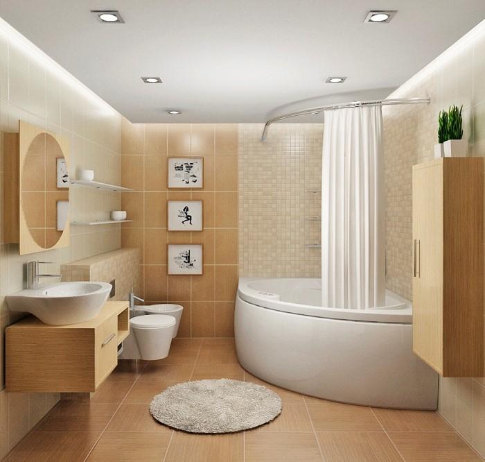 Дизайн маленькой ванной.