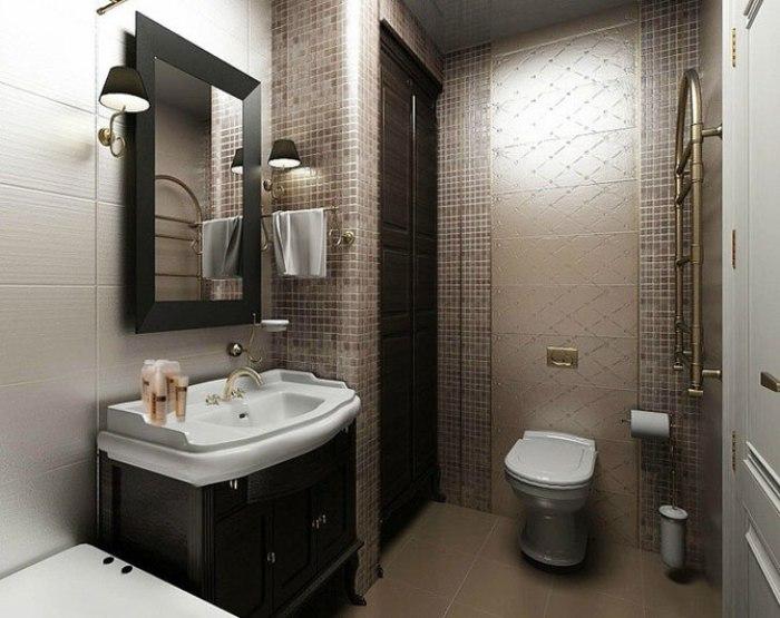 Ванная с туалетом.