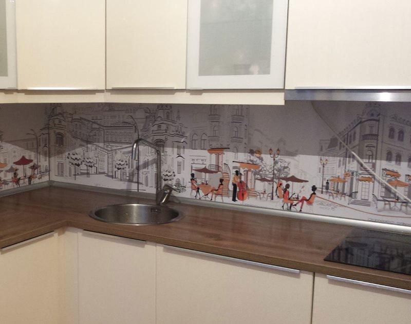 Отделка ПВХ-панелями кухонного фартука