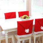 Декор кухонных стульев к Новому году