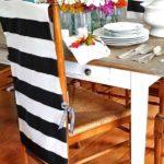 Черно-белая полоска на спинке стула
