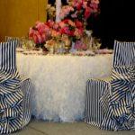 Декор стульев в банкетном зале