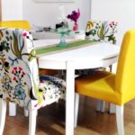Декорирование кухонных стульев текстильными чехлами