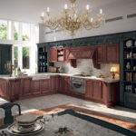 Контрастная окраска деревянного гарнитура