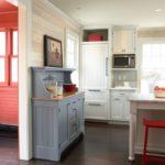 Кухонный шкаф серого цвета
