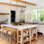 Место для книг в кухонном острове