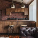 Интерьер кухни в стиле лофта