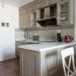 Рабочая зона кухни в стиле прованса