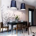 Плетенная мебель в кухне этнического стиля