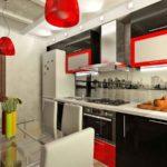 Красные плафоны кухонных светильников