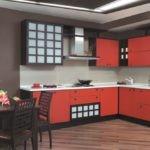 Угловая кухня в японском стиле