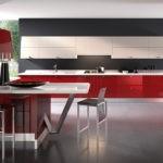 Дизайн большой кухни с наливным полом