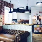 Кухонный диван с кожаной обивкой