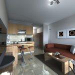 Модульные картины в декоре кухни-гостиной