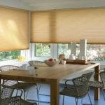 Рулонные шторы на кухонных окнах