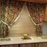 кухонные занавески из пестрой ткани