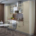 Дизайн кухни со стульями из проволоки
