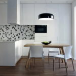 Обеденная группа на кухне в стиле минимализма