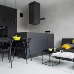 Черная мебель в современной кухне