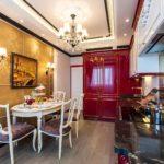 Деревянная мебель в кухне стиля модерн