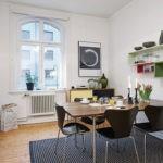 Зонирование кухни ковровым покрытием