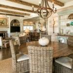 Плетенная мебель в интерьере кухни