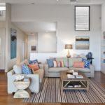 Зонирование ковром кухни-гостиной