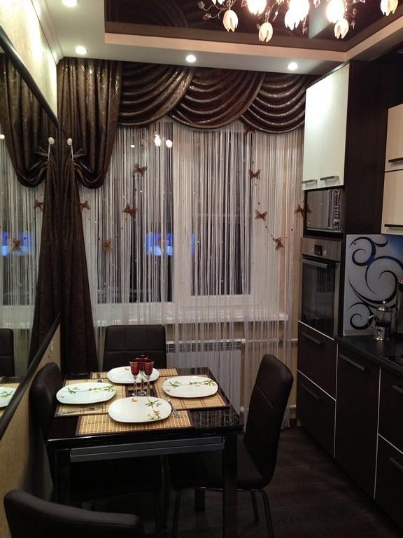 повнимательнее, какие шторы подойдут к коричневой кухне фото точеную фигуру правильные