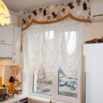 Французская штора из белой вуали