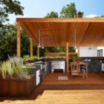 Проект летней кухни открытого типа
