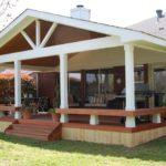 Проект летней кухни с двускатной крышей