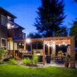Освещение зоны отдыха в загородном доме