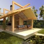 Проект отдельно стоящей летней кухни в современном стиле