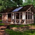 Проект деревянной летней кухни